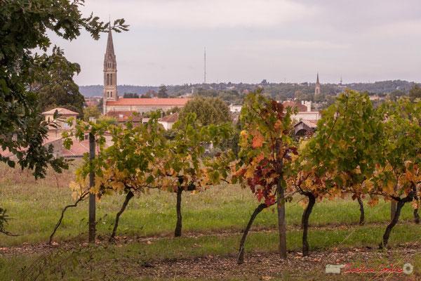 Chemin de randonnée; vignoble aux abords de Quinsac. Prix départemental du Paysage, 30/10/2017