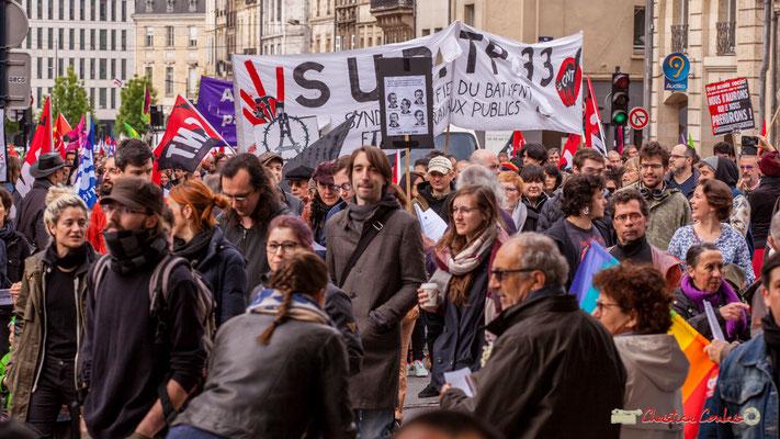 10h52 Syndicat Unifié du Bâtiment et des Travaux-Publics C.N.T. Rue du Docteur Nancel-Pénard, Bordeaux. 01/05/2018