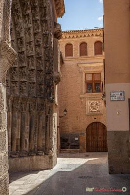 Porte du Jugement et Musée de Tudela, Palais du Doyen (1477). Plaza Vieja, Catedral Santa Maria la Blanca, Tudela, Navarra