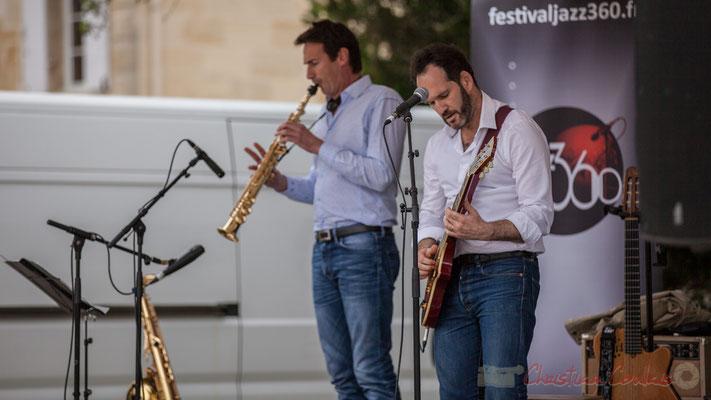 Thomas Lachaize, Jean Lassallette, Taldea Group. Festival JAZZ360 2016, Quinsac