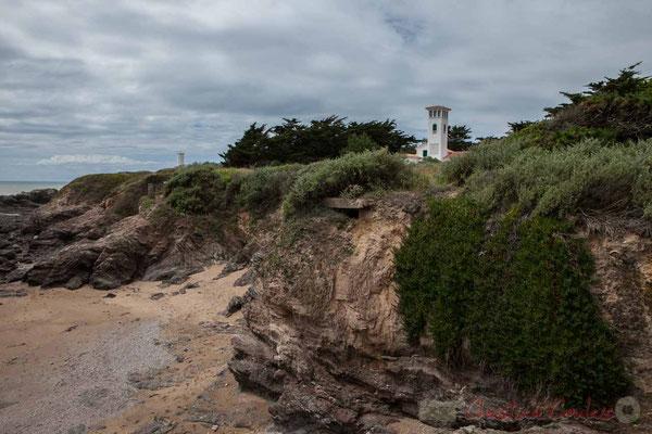 """L'ilôt rocheux de Pilours se raccroche à un petit cap boisé, baptisé au XVIème siècle """"La Pointe de Ryé"""". Corniche Vendéenne, Vendée, Pays de Loire"""