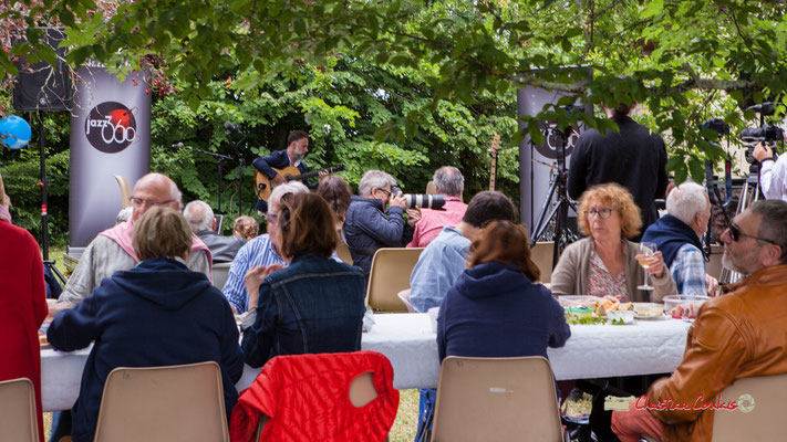 Pique-nique vigneron avec Nicolas Saez Quartet, Festival JAZZ360 2019, Château Duplessy, Cénac, lundi 10 juin 2019