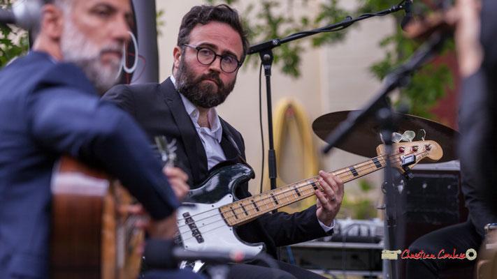 Julien Cridelause; Nicolas Saez Quartet. Festival JAZZ360, Château Duplessy, Cénac. 10/06/2019