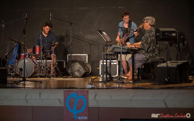 Louis Lubat, Jules Rousseau, Bernard Lubat. Compagnie Lubat. Concert de soutien des Insoumis de la 12ème circonscription de la Gironde. 28/05/2017, Targon