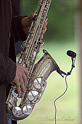 Saxophone alto de Laurent Robino; Naxee Quintet, Festival JAZZ360 2012, Quinsac. Dimanche 10 juin 2012