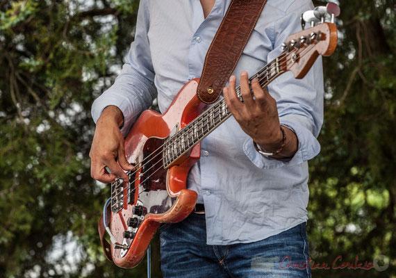 Guitare basse de Nicolas Mirande. Festival JAZZ360 2016, Quinsac, 12/06/2016