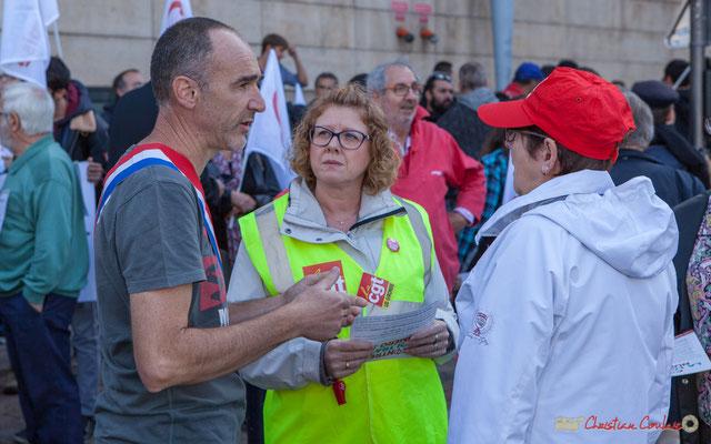 Loïc Prud'Homme, Député de Gironde. Première manifestation contre la réforme du code du travail. Bordeaux, 12/09/2017