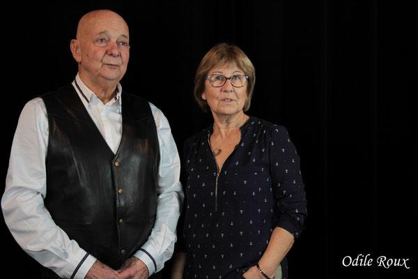 Daniel Branche et Maryse Pinol photographiés par Odile Roux. Cénac, samedi 2 février 2019