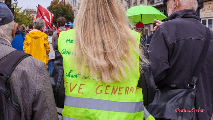 """""""Gilet jaune / Grève générale"""" Manifestation intersyndicale, Bordeaux, mardi 5 octobre 2021. Photographie © Christian Coulais"""