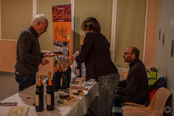 Dégustation des vins du Château Brethous. Soirée Cabaret JAZZ360, Salle culturelle de Cénac, Gironde, 05/11/2016
