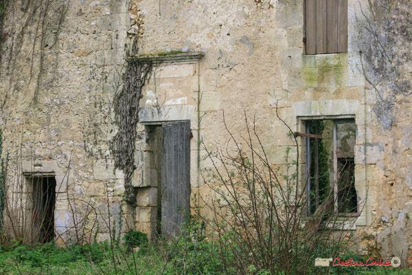 Façade ouest du château de Montignac, Cénac. 02/03/2008