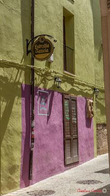 Façade de maison et commerce, bicolore /  Fachada de casa y comercio, dos tonos, Tudella, Navarra