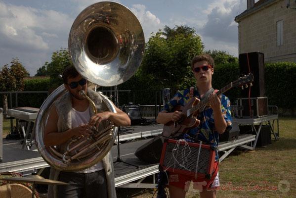 Elephant Brass Machine, Damien Bachère, Thomas Boudé. Festival JAZZ360 2015, Cénac, 12/06/2016