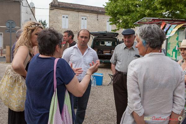 Christophe Miqueu, candidat aux élections législatives, Nathalie Chollon-Dulong suppléante, 12ème circonscription de la Gironde. Gironde-sur-Dropt, 27 mai 2017