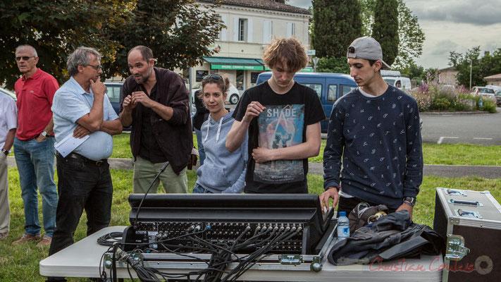Charlotte Leric et ses stagiaires ont assuré le son extérieur. Festival JAZZ360, Cénac, 11/06/2016