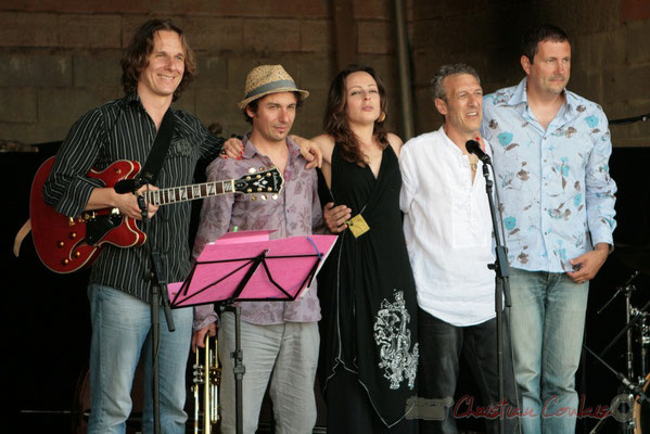 Hans Van Heven, Yann Loustalot, Florinda Piticchio, Iano Anzelmo, Olivier Gatto; Florinda Piticchio & Balarm Quartet, Festival JAZZ360 2011, Cénac. 05/06/2011
