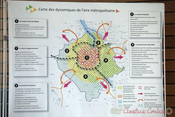 Carte des dynamiques de l'Aire métropolitaine, Bordeaux