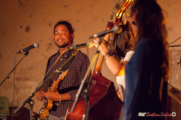Johary Rakotondramasy; Laure Sanchez Quintet, JAZZ360 au Domaine de Sentout, Lignan-de-Bordeaux. 08/09/2018