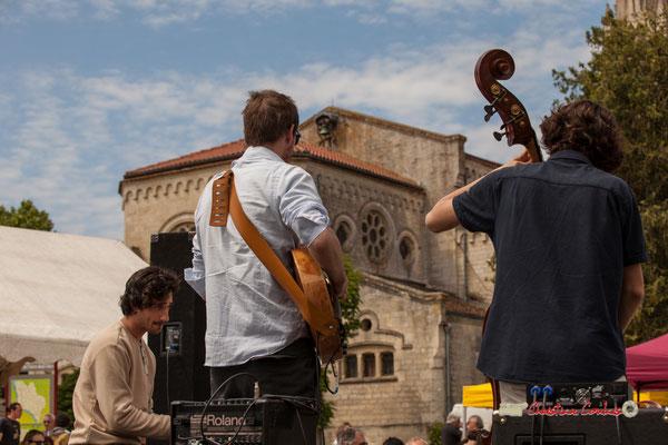 Edward Rogers, Nicolas Allard, Esteban Bardet; Atelier Jazz du Conservatoire Jacques Thibaud, Festival JAZZ360 2019, Quinsac, 09/06/2019