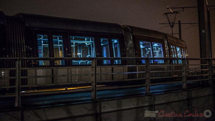 Tramway, ligne C Parc des expositions-Belcier. Pont du Guit, Bordeaux