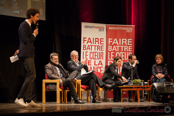 3 Pascal Lafargue, Jean-Marie Darmian, Naïma Charaï, Benoît Hamon, Andréa Kiss, Théâtre Fémina, Bordeaux