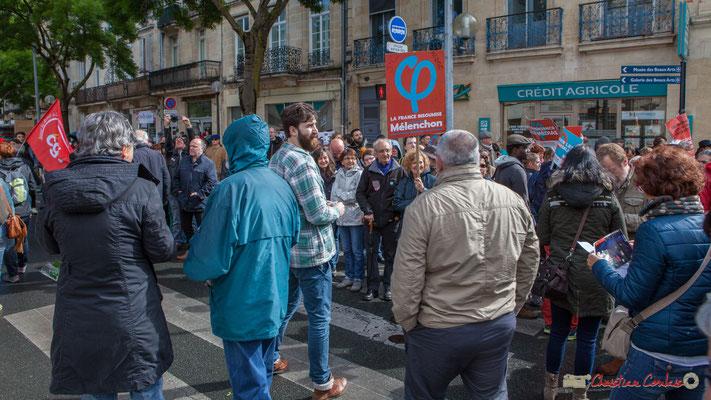 France Insoumise, 5ème circonscription du Médoc. Manifestation du 1er mai 2017, cours d'Albret, Bordeaux