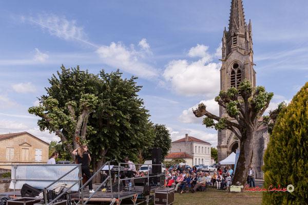 Festival JAZZ360 2019, place de l'église Sainte-Eulalie avec Loïc Cavadore Trio, Camblanes-et-Meynac. 08/06/2019