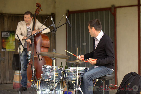 Olivier Gatto, Didier Ottaviani; Alex Golino & David Blenkhorn Quartet, Festival JAZZ360 2012, château Roquebrune, Cénac, samedi 9 juin 2012