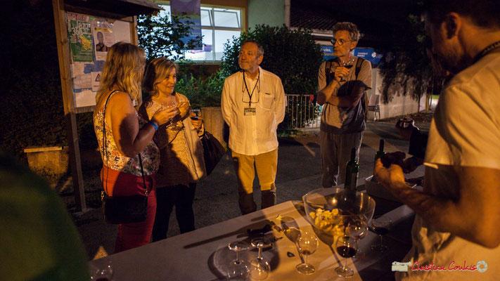 Rillettes et Côte de Bordeaux sont les bienvenues. Après concert de Louis Sclavis Quartet; Festival JAZZ360 2018, Cénac. 08/06/2018