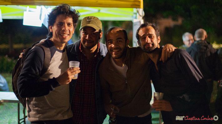00h25 Yann Phayphet, Eym Trio; Johary Rakotondramasy, musicien d'Atrisma; Mohamed Abozekry, oudiste égyptien; Elie Dufour, Eym Trio. Après-concert, Festival JAZZ360, 09 juin 2017