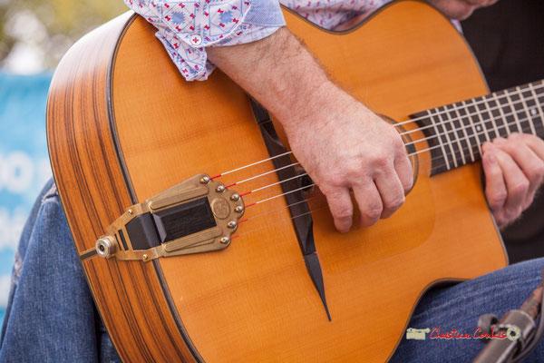 Guitare de Bruno Debord; Swing Home Trio. Festival JAZZ3602019, Camblanes-et-Meynac. 08/06/2019