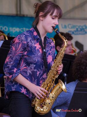Stéphanie Furlan, Big Band du Conservatoire Jacques Thibaud. Festival JAZZ360 2019, parc du château de Pomarède, Langoiran. 06/06/2019