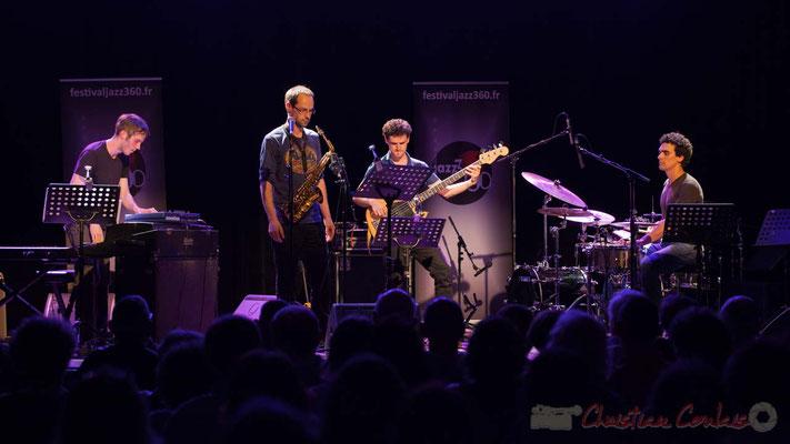 Le Jardin Quartet : Simon Chivallon, piano / Julien Dubois, saxophone /  Ouriel Ellert, basse / Gaétan Diaz, batterie. Festival JAZZ360 2016