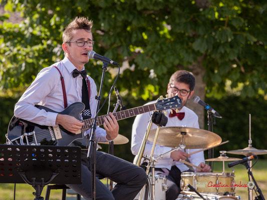 Julien Jolis, Julien Lavie; Jujubees Swing Combo. Festival JAZZ360, Cénac. 08/06/2019