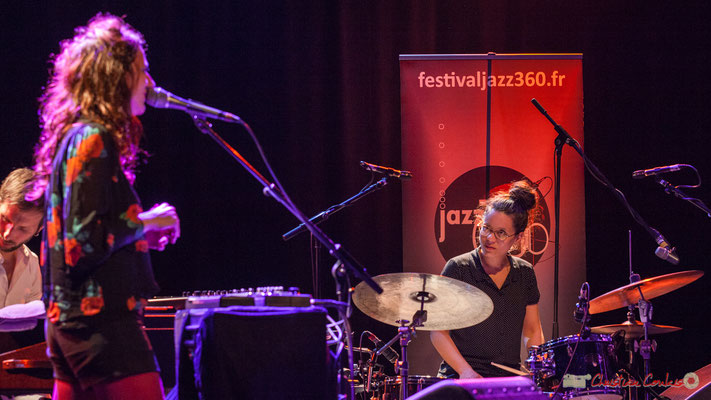 "Tony Paeleman, Leïla Martial,  Anne Paceo, ""Anne Paceo Circles"", Festival JAZZ360, Cénac, 10/06/2017"
