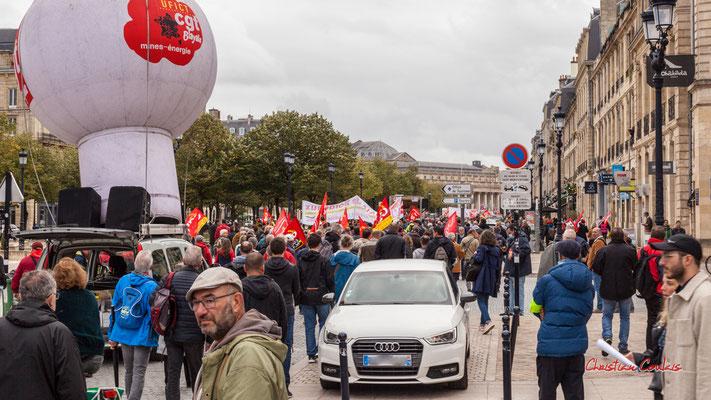 Manifestation intersyndicale, allées de Tourny, Bordeaux, mardi 5 octobre 2021. Photographie © Christian Coulais