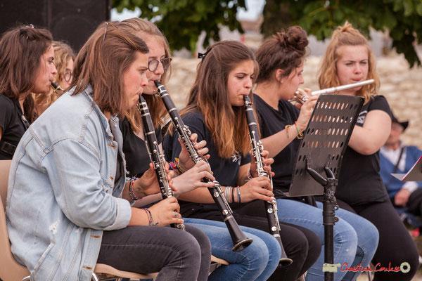 Clarinettes et flûtes. Big Band Jazz du Collège Eléonore de Provence, dirigée par Rémi Poymiro. Festival JAZZ360 2018, Cénac. 08/06/2018