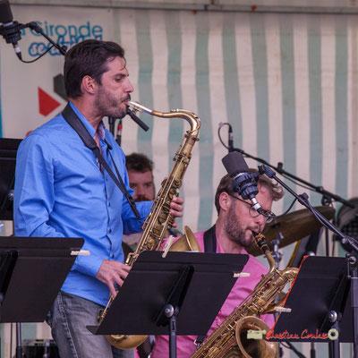 Julien Deforges; Big Band du Conservatoire Jacques Thibaud. Festival JAZZ360 2019, parc du château de Pomarède, Langoiran. 06/06/2019