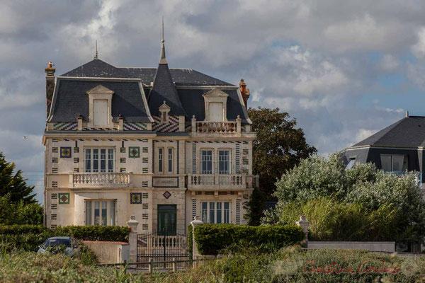 """Habitat traditionnel """"Belle époque"""". Croix de Vie. Corniche Vendéenne, Vendée, Pays de Loire"""