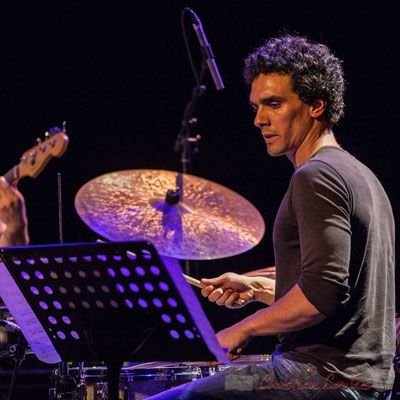 Le Jardin Quartet : Gaétan Diaz, batterie. Festival JAZZ360 2016, 10/06/2016