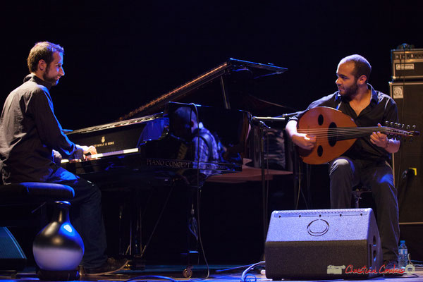 Eym Trio; Elie Dufour, Mohamed Abozekry. Festival JAZZ360, Cénac, 09/06/2017