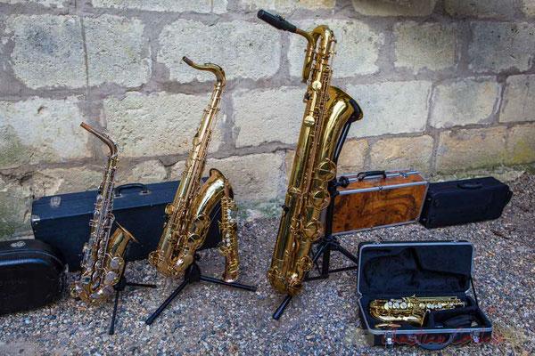 La famille des saxophones, instruments très présents au Festival JAZZ360 2016. 13/05/2016