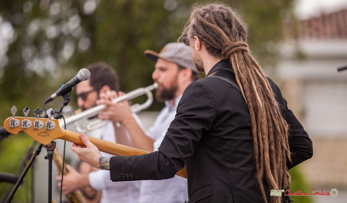 Shob's dreadlocks; Shob & Friends. Festival JAZZ360 2018, Quinsac. 10/06/2018