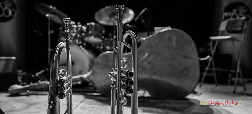 """Trompettes de Franck Vogler, """"Docteur Nietzsche fait son grand huit"""", Festival JAZZ360, Saint-Caprais-de-Bordeaux, 05/06/2019"""