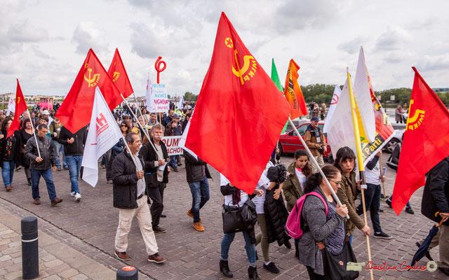 11h41 Le Parti communiste marxiste-léniniste turc (Marksist-Leninist Komünist Partisi, MLKP) bat le pavé quai Richelieu, Bordeaux. 01/05/2018