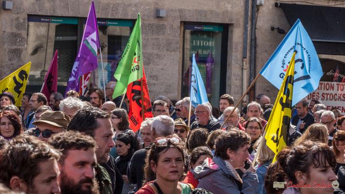 """""""Agir ensemble contre le chômage"""" Manifestation contre la réforme du code du travail. Place Gambetta, Bordeaux, 12/09/2017"""