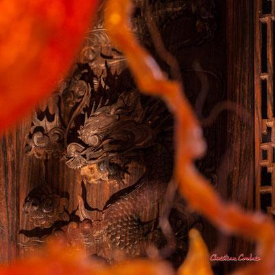 """""""Dragon des mers"""" Le Ras d'eau, atelier de Sébastien Rideau, artiste plasticien. Le Verdon-sur-mer, samedi 3 juillet 2021. Photographie © Christian Coulais"""