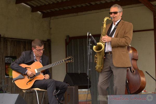 David Blenkhorn, Alex Golino; Alex Golino & David Blenkhorn Quartet, Festival JAZZ360 2012, château Roquebrune, Cénac, samedi 9 juin 2012