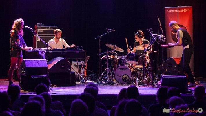 """Leïla Martial, Tony Paeleman, Anne Paceo, Christophe Panzani, """"Anne Paceo Circles"""", Festival JAZZ360, Cénac, 10/06/2017"""