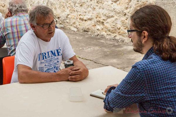 Richard Raducanu, Président de JAZZ360, répond aux questions de Guillaume Coeymans, pour les Scènes d'été de la Gironde. Camblanes-et-Meynac, 11/06/2016